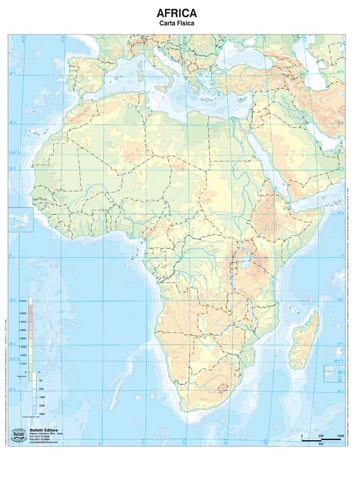 Cartina Muta Dell Africa Fisica.Carta Muta Dell Africa Fisica