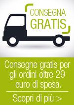 Spedizioni Gratis per ordini oltre 29 euro