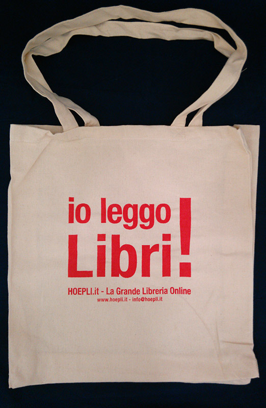 Borsa hoepli io leggo libri con soffietto hoepli for Ordinare libri on line